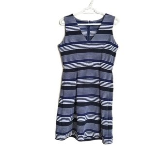 Madewell Striped Fit and Flare Striped Dress M